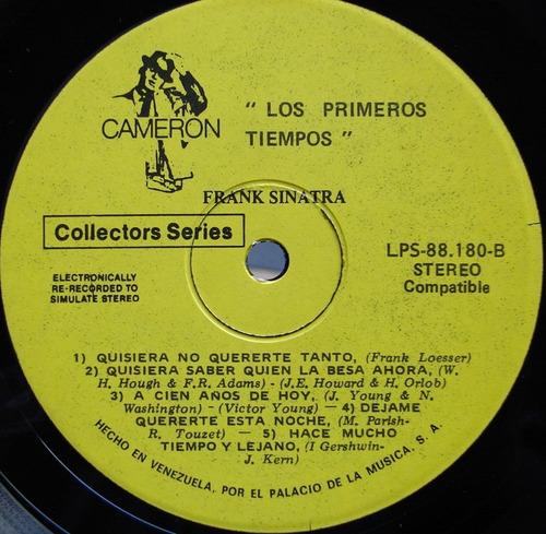 frank sinatra - los primeros tiempos - lp de venezuela 1973
