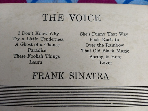 frank sinatra lp the voice  i don't know why