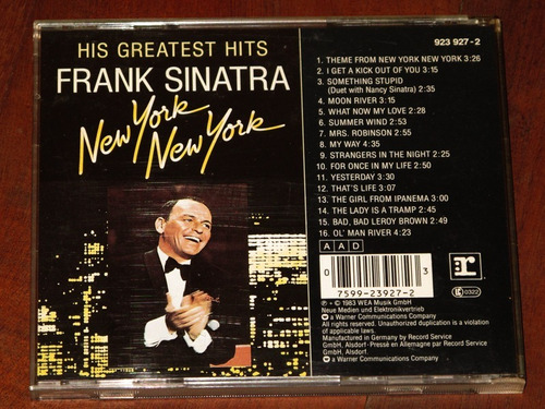 frank sinatra new york new york cd importado