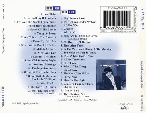 frank sinatra - sinatra 80th all the best - 2 cd importado