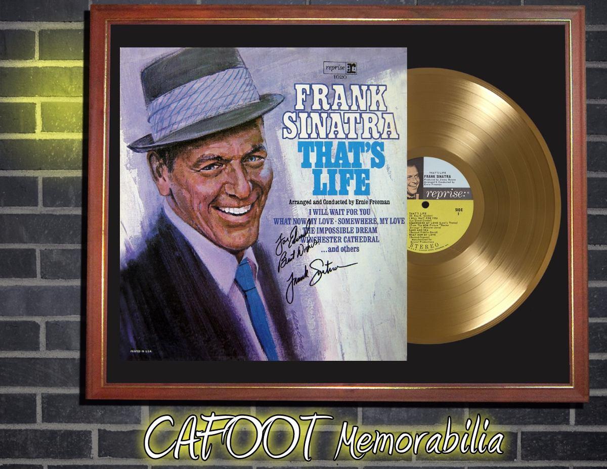 Frank Sinatra That\'s Life Tapa Firmada Disco Oro Enmarcado - $ 599 ...