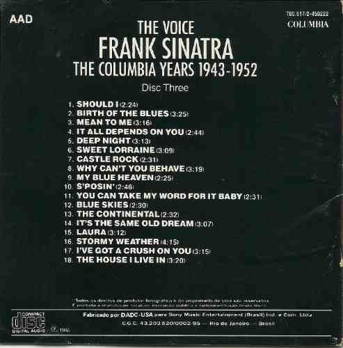 frank sinatra the columbia years 1943 - 1952