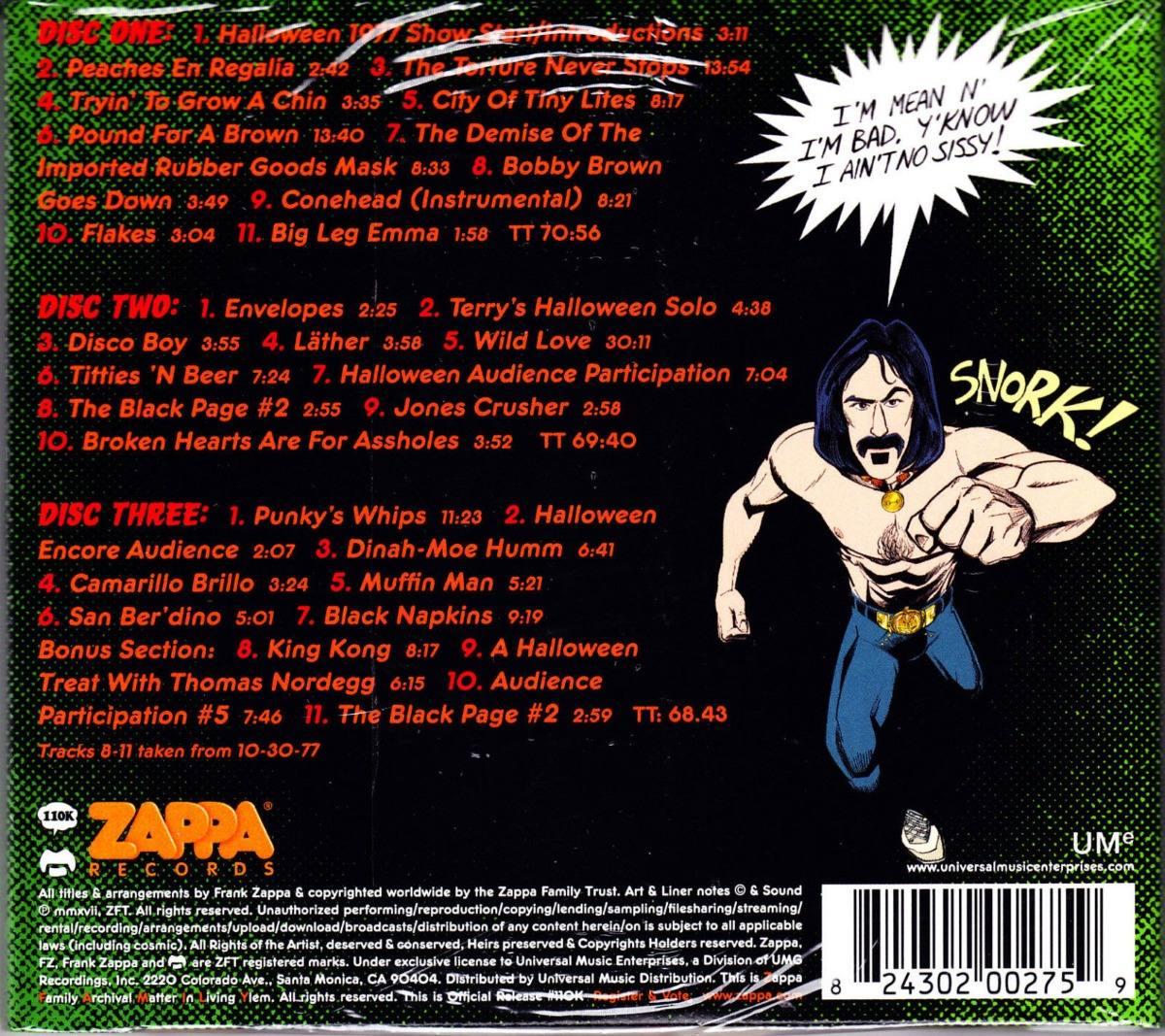 Frank Zappa Cd Triplo Halloween 77 Lacrado
