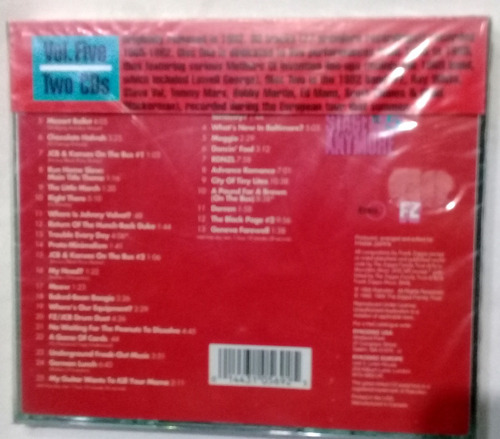 frank zappa you can´t do that on stage vol.5 cd duplo pronta