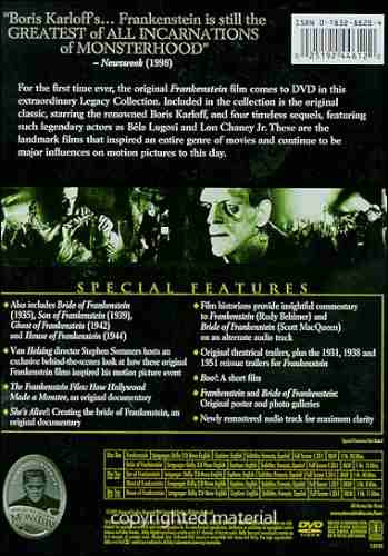 frankenstein: the legacy collection. original (2 discos)