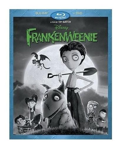 frankenweenie tim burton pelicula blu-ray +  dvd