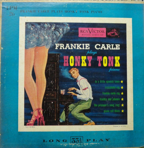 frankie carle piano ritmo plays honky tonk- lp 10 rca victor