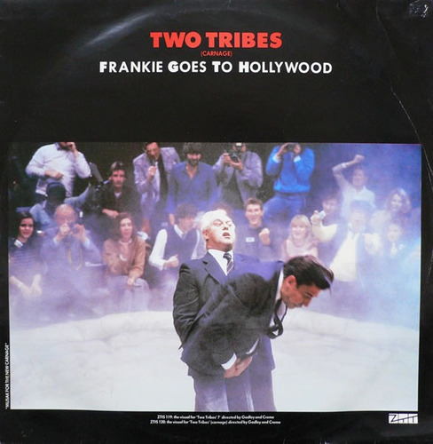 frankie goes to hollywood - two tribes vinilo 12 pulgadas