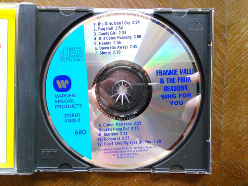 frankie valli and the four seasons - sing for you