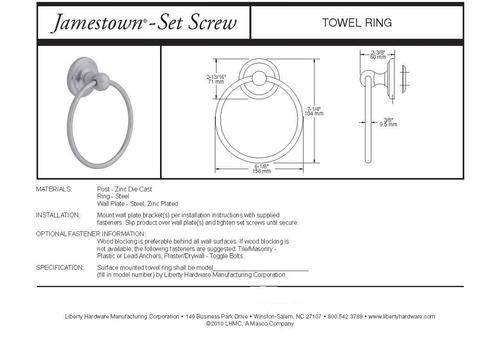 franklin latón 9016pc jamestown baño hardware accesorio to