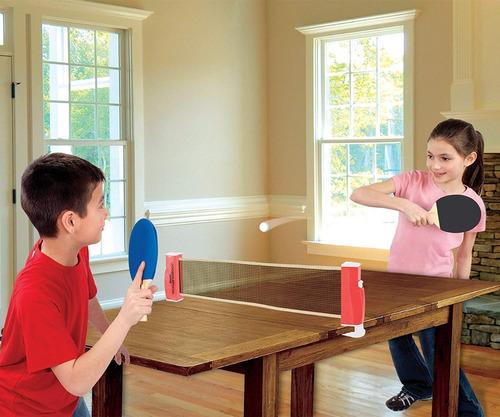 franklin sports set de tenis de mesa ping pong + 20 pelotas
