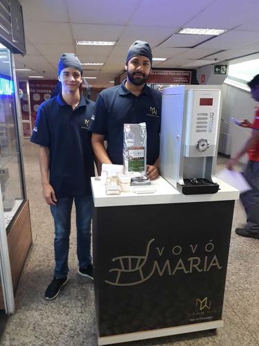 franquia de máquinas de café - máq. trabalham sozinhas