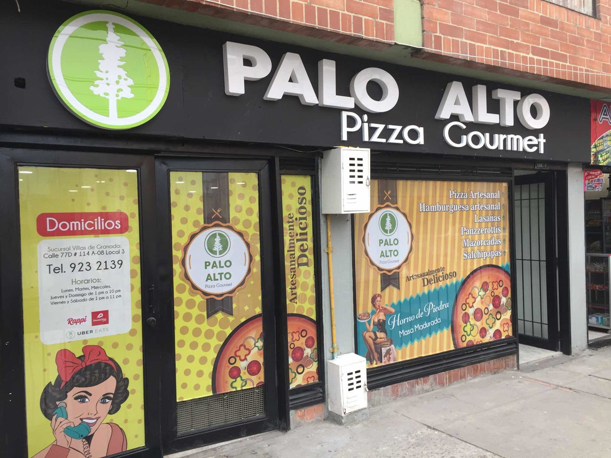 franquicia palo alto pizza gourmet - pizzeria negocio