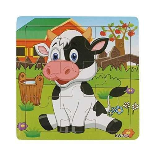 franterd, rompecabezas de vaca lechera de madera para !