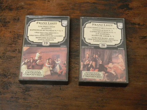 franz liszt  2 cassettes