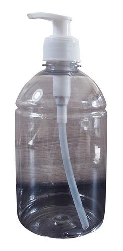 frasco álcool gel 500ml saboneteira (kit com 10 unidades)