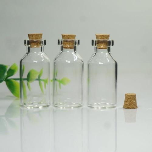 frasco con corcho * 55 unidades 28 ml, transparente, vidrio