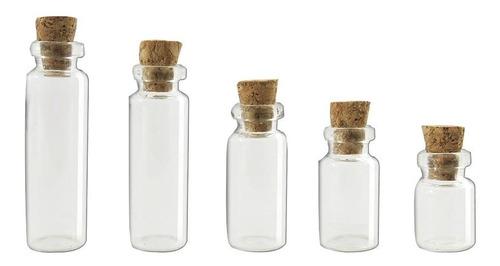 frasco con corcho * 60 unidades 28 ml, transparente, vidrio