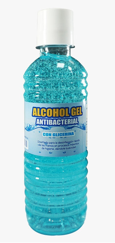 frasco de alcohol en gel al 70%