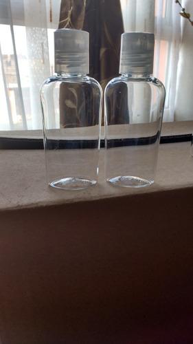 frasco de plastico transparente de 60 ml con tapa a presión