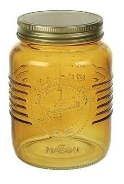 frasco de vidrio ambar  tapa a rosca dorada