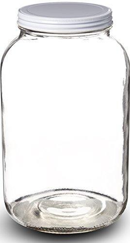 frasco de vidrio claro de 1 galón de paksh novedad boca