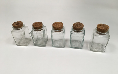 frasco de vidrio con tapón de corcho
