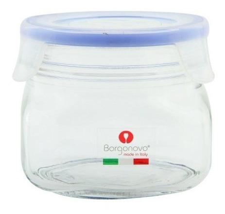 frasco de vidrio  para cafe recipiente hermético cocina hs