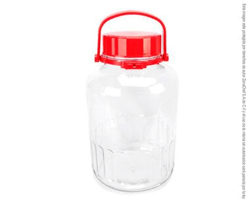 frasco de vidrio tapa hermetica de 8 litros