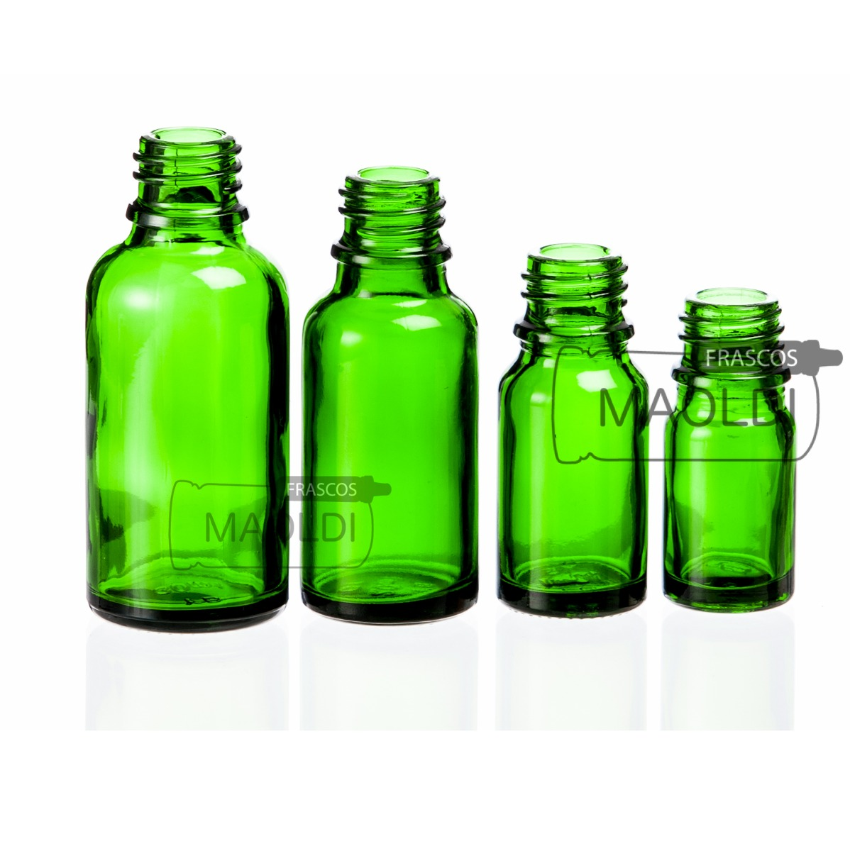 Frasco de vidrio verde 10ml 25 pzas envase gotero maoldi for Vidrio plastico transparente precio