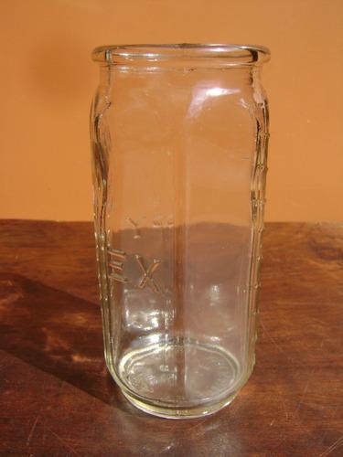 frasco de vidro antigo pirex original e sem uso com medida