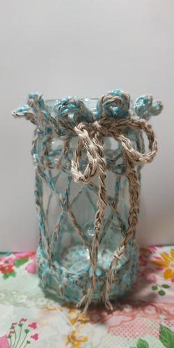 frasco decorado souvenier/centro de mesa