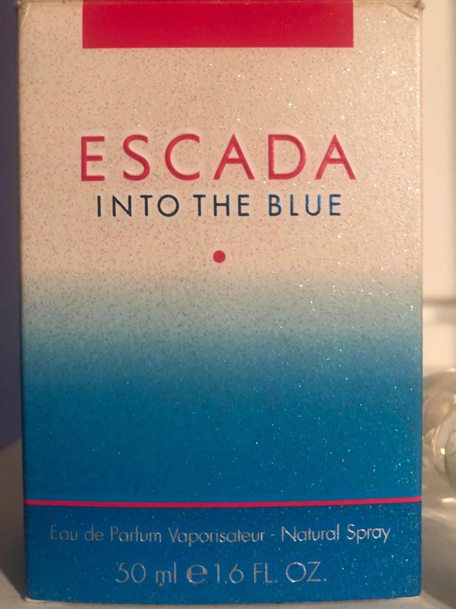 Frasco Do Perfume Into The Blue Escada R 5000 Em Mercado Livre