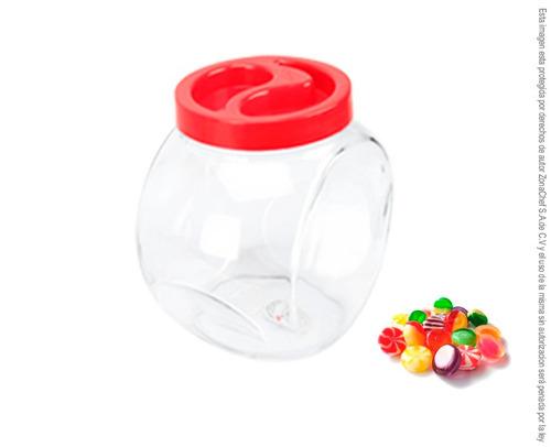 frasco dulcero de vidrio tapa de plastico 3 posiciones 2lt