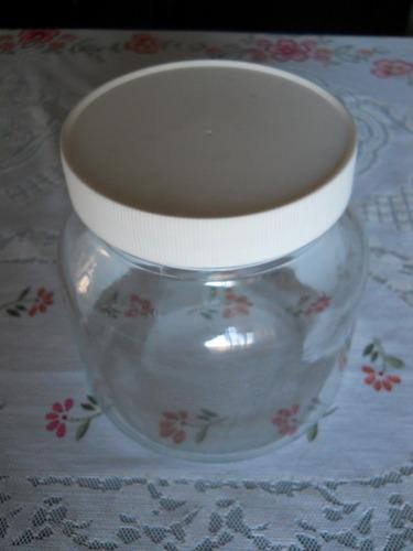 frasco envase de vidrio con tapa a rosca plástica 1500 cc