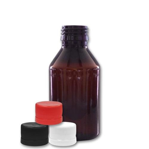 frasco farmacia pet ámbar 120cc c/tapa (114 unidades)
