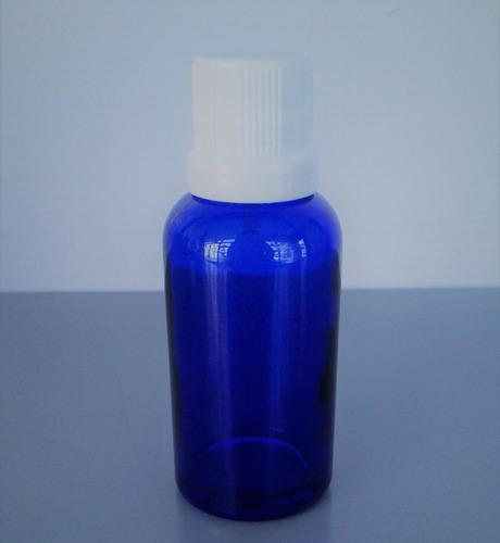 frasco gotero de vidrio azul de 20 ó 30 ml.