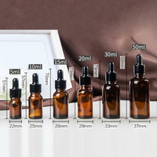 frasco gotero vidrio farmaceutico  ambar 5 ml * 50 unidades