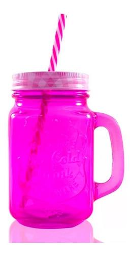 frasco mason jar grabado popotes tapa remate tarro ice cold