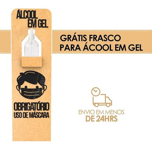frasco para alcool em gel com suporte totem de chão p/ lojas