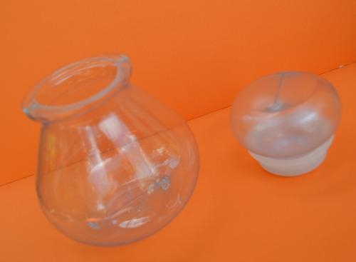 frasco plástico burbuja c/tapa - ideal souvenirs/regalos