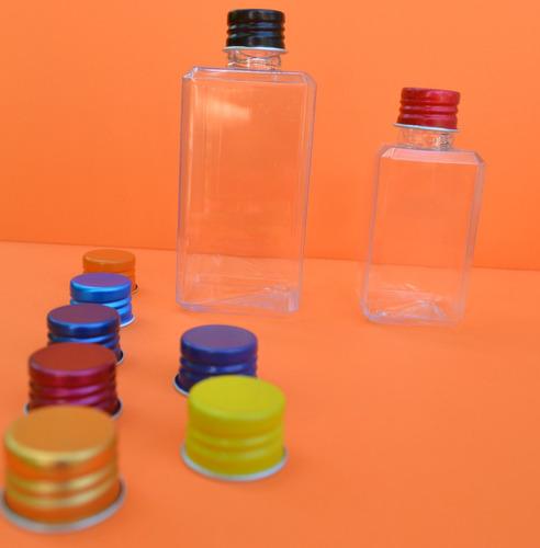 frasco plástico cuadrado de 100 c/tapa rosca de metal