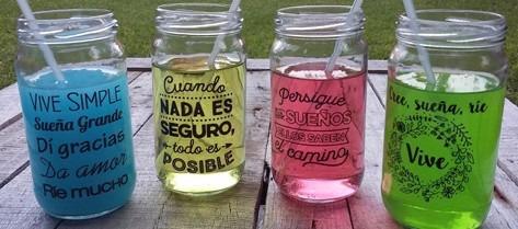 frasco vaso personalizado frases imagen souvenir