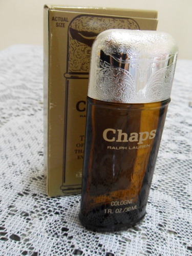 frasco vazio de perfume importado chaps, ralph lauren