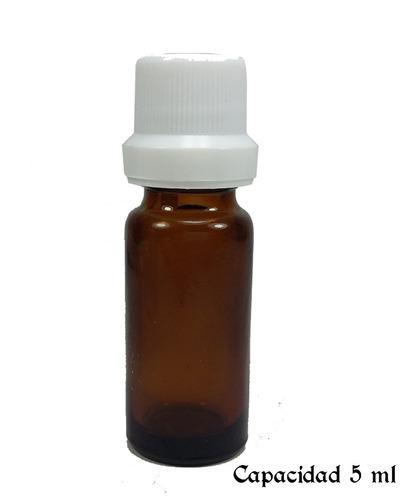 frasco vidrio ambar farmaceutico dosificador 5 ml x 100