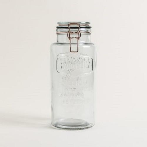 frasco vidrio hermetico clip cobre family
