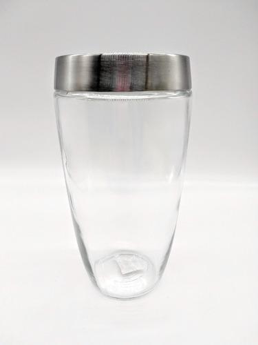 frasco vidrio tapa a rosca aluminio 22 cm serbazares