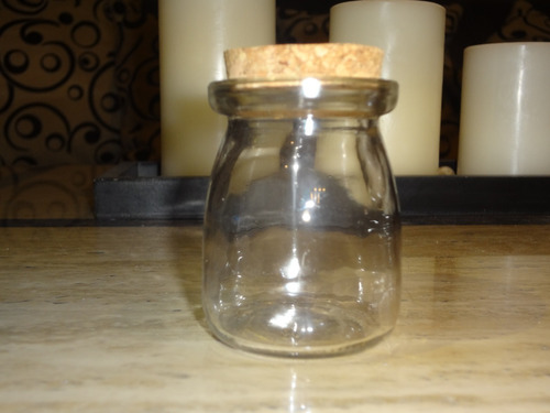 frasco vidrio tapa  corcho 7 x 5 cm / 145 cc / barbazar spa