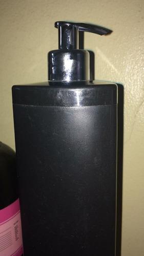 frascos 1 litro preto luxo válvula prata kit 2 peças ***