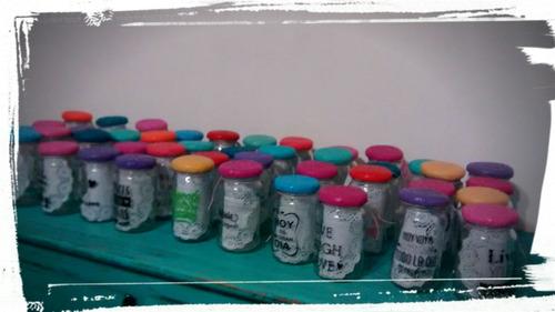frascos con frases deco v.  devoto /m. castro